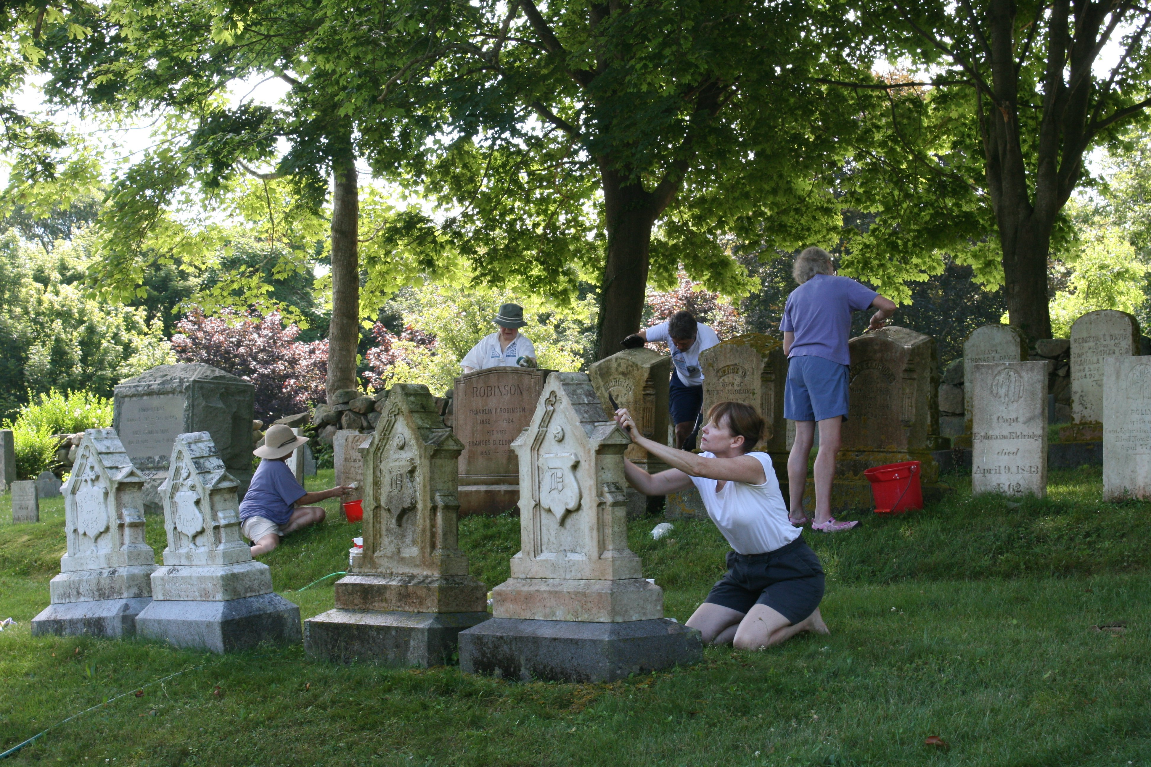 Headstone Cleaning, Old Village Cemetery